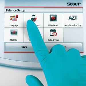 Ohaus STX touch screen